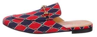 Gucci Rhombus Chain Horsebit Princetown Slippers red Rhombus Chain Horsebit Princetown Slippers