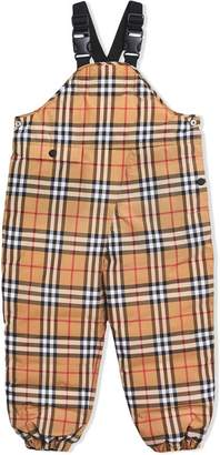 Burberry Showerproof Vintage Check Down-filled Dungarees