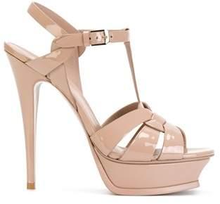 Saint Laurent Women's Pink Leather Sandals.
