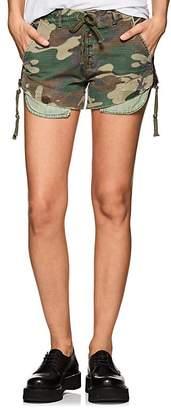 Greg Lauren Women's Camouflage Distressed Ripstop Shorts