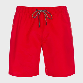 Men's Classic-Fit Red Long Swim Shorts $130 thestylecure.com