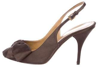 Valentino Satin Slingback Sandals