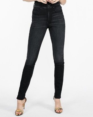 Express High Waisted Dark Wash Perfect Curves Stretch+ Jean Leggings