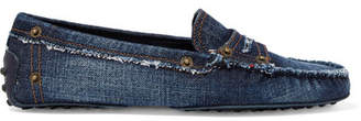 Tod's Gommino Denim Loafers - Dark denim