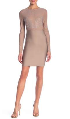 Wow Couture Long Sleeve Bandage Mesh Dress