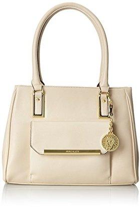 Anne Klein Shimmer Down Large Satchel Top Handle Bag $53.40 thestylecure.com