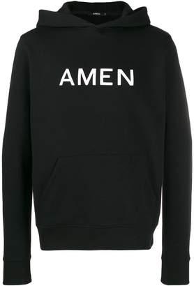 Amen printed logo hoodie
