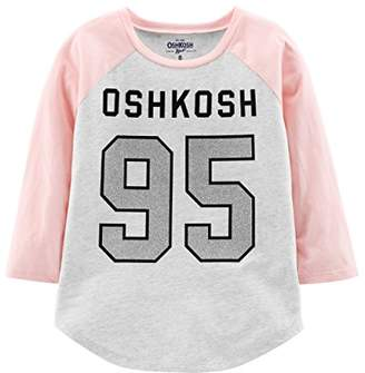 Osh Kosh OshKosh Girls' Kids Varsity Logo Tee,8