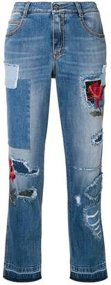 Ermanno Scervino ripped jeans with embroidery details