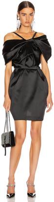 ZUHAIR MURAD Bow Mini Dress in Black   FWRD