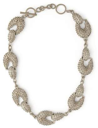 Jil Sander Bubbled Chain Link Necklace - Womens - Silver