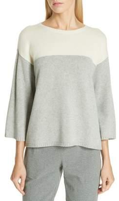 Eileen Fisher Boxy Cashmere & Wool Sweater
