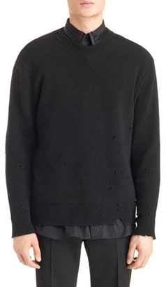 Men's Givenchy Destroyed Wool Sweater $1,470 thestylecure.com