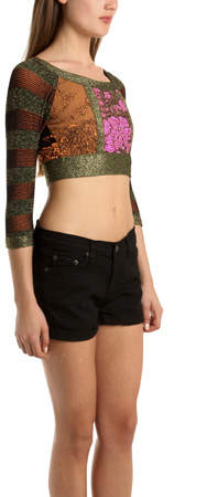 Coven Cropped Top With Pink Center