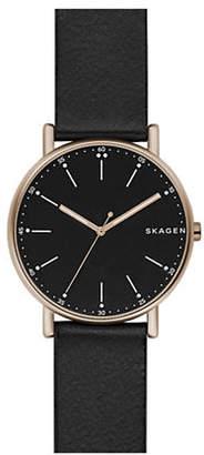 Skagen Signatur Analog Leather Strap Watch