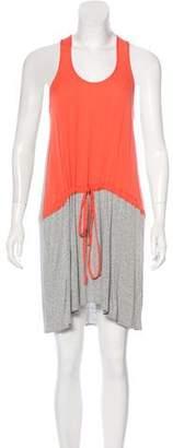 Mason Silk-Paneled Mini Dress