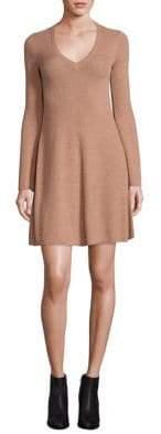 BCBGMAXAZRIA Althea Merino Wool Knit A-Line Dress