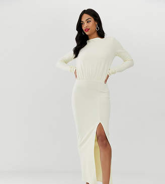 Asos Design DESIGN long sleeve maxi dress with open back