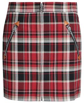 Rag & Bone Checked Cotton-Twill Mini Skirt