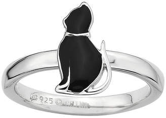 JCPenney FINE JEWELRY Personally Stackable Sterling Silver Cat Ring