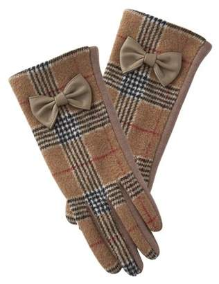 Tickled Pink Kennedy Plaid Bow Gloves, Set of 2 Gloves, One Size Fits Most, 100% Polyester, Multiple Colors