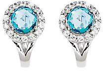 Bac QVC 2.35ct tw Blue & White Topaz Sterling Omega k Earrings