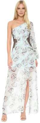 BCBGMAXAZRIA Sandy One Shoulder Gown $368 thestylecure.com