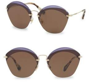 Miu Miu 63MM Cutout Sunglasses