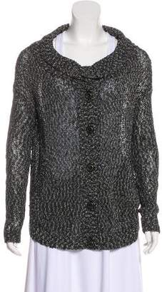Rachel Zoe Button-Up Knit Cardigan