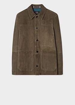 Paul Smith Men's Khaki Suede Jacket