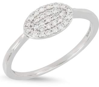 Bony Levy 18K White Gold Pave Diamond Oval Ring