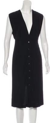 Theyskens' Theory Midi Button-Up Dress