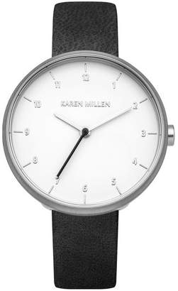 Karen Millen Minimalistic Leather Watch
