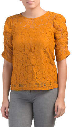 Puff Sleeve Lace Top