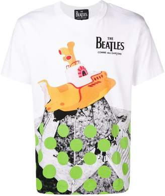 Comme des Garcons The Beatles X Yellow Submarine print T-shirt