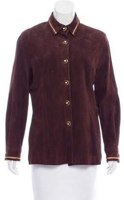 St. John Sport Tailored Suede Jacket