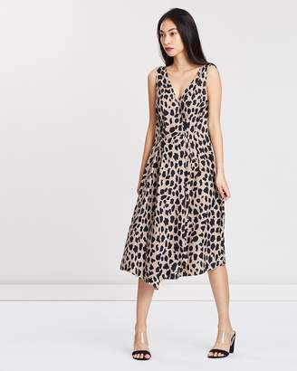 Mng Leopard Print Dress