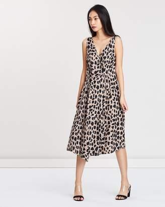 Mng Leopard Print Dress