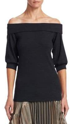 Brunello Cucinelli Ribbed Off-The-Shoulder Top