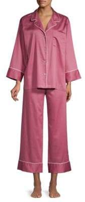 Natori Two-Piece Cotton Sateen Pajama Set