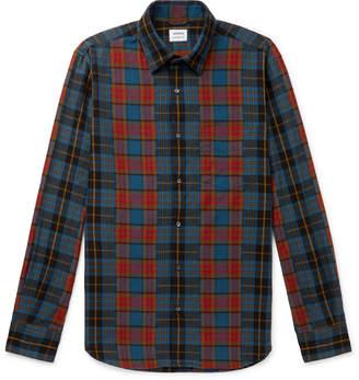 Aspesi Checked Cotton-Flannel Shirt