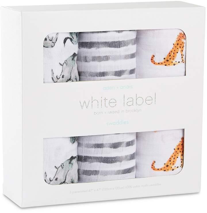 Aden And Anais White Label Infant Unisex Serengeti Swaddles, 3 Pack