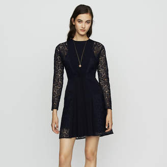 Maje Crepe and lace dress