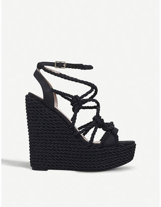 Kurt Geiger London Notty rope wedge sandals