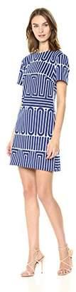 Trina Turk Trina Women's Zap Crewneck Short Sleeve Dress,Extra Small