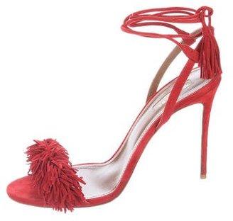 Aquazzura Wild Thing Suede Sandals $395 thestylecure.com