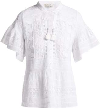 Sea Ila crochet-lace cotton blouse
