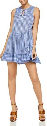 BCBGeneration Sleeveless Stripe A-Line Dress