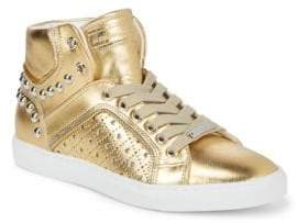 Alessandro Dell'Acqua Metallic Hi-Top Stud Sneakers