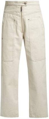 Isabel Marant Paden high-waisted wide-leg jeans